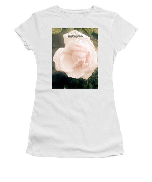 Women's T-Shirt featuring the photograph Psalm 23 by Marian Palucci-Lonzetta