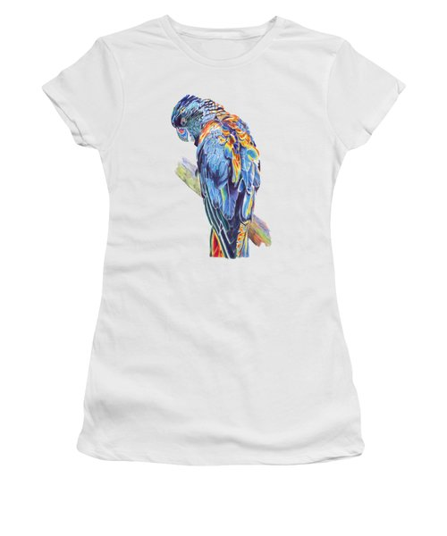 Psychedelic Parrot Women's T-Shirt (Athletic Fit)