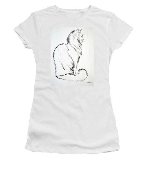 Women's T-Shirt (Junior Cut) featuring the drawing Puff by Joan Hartenstein