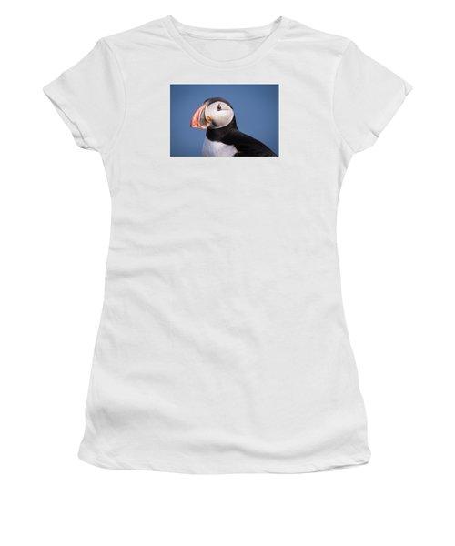 Puffin 1 Women's T-Shirt (Junior Cut) by Brad Grove