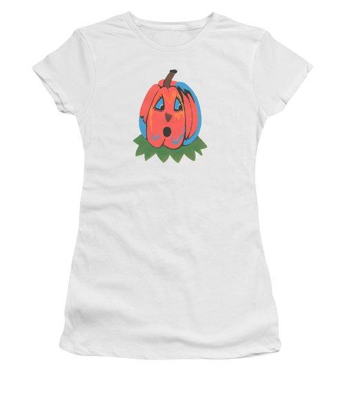 Pumpkin Women's T-Shirt (Junior Cut) by Kathleen Sartoris