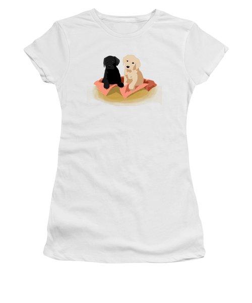 Puppy Basket Women's T-Shirt