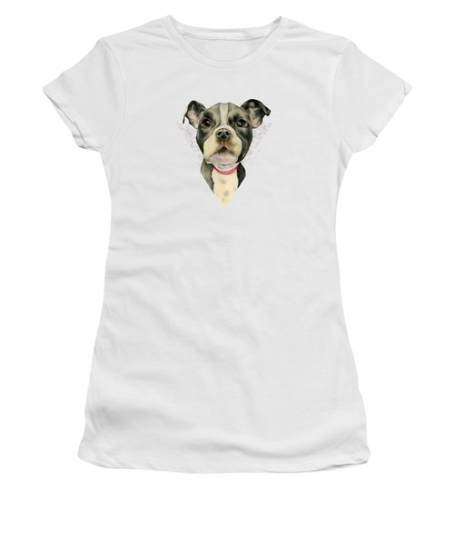 Puppy Eyes 2 Women's T-Shirt (Athletic Fit)