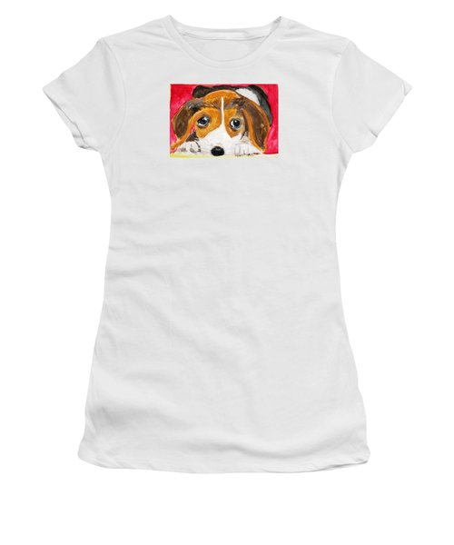 Puppy For Love Women's T-Shirt (Athletic Fit)