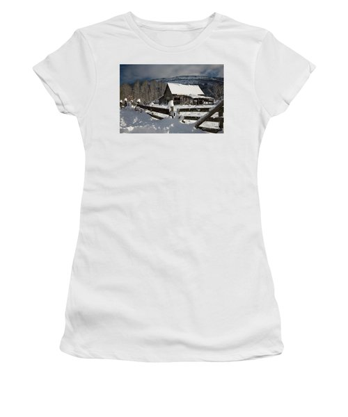 Purcell Mtn Barn Women's T-Shirt (Athletic Fit)