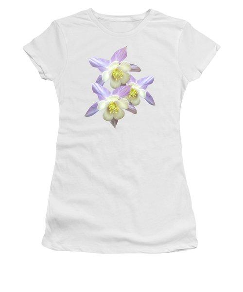 Purple Aquilegia Women's T-Shirt