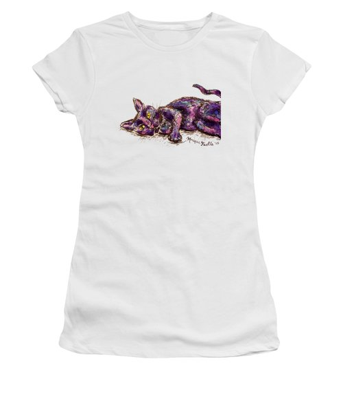 Purple Cat Women's T-Shirt