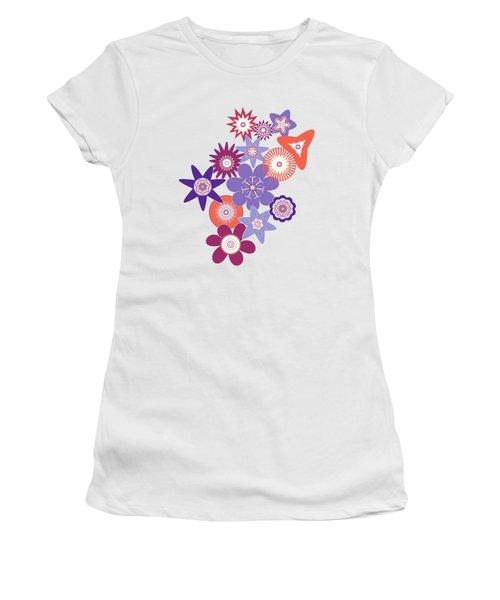 Purple Flower Fantasy Women's T-Shirt (Junior Cut) by Methune Hively