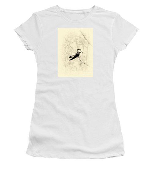 Purple Martin Women's T-Shirt (Junior Cut) by Lila Fisher-Wenzel