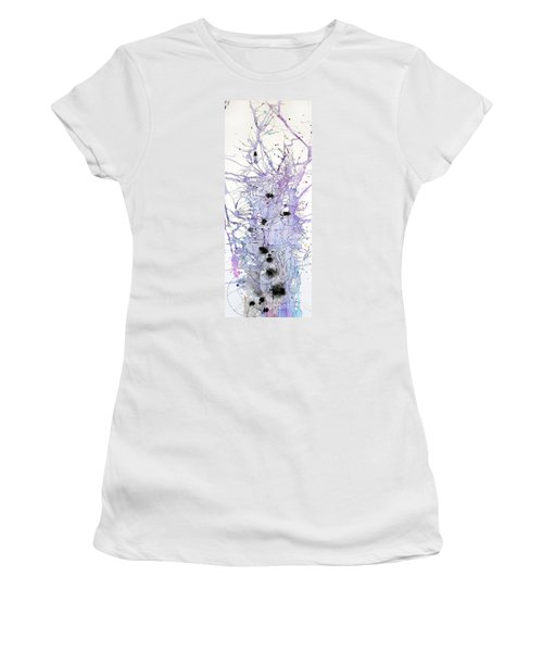 Women's T-Shirt (Junior Cut) featuring the painting Purple Passion by Rebecca Davis