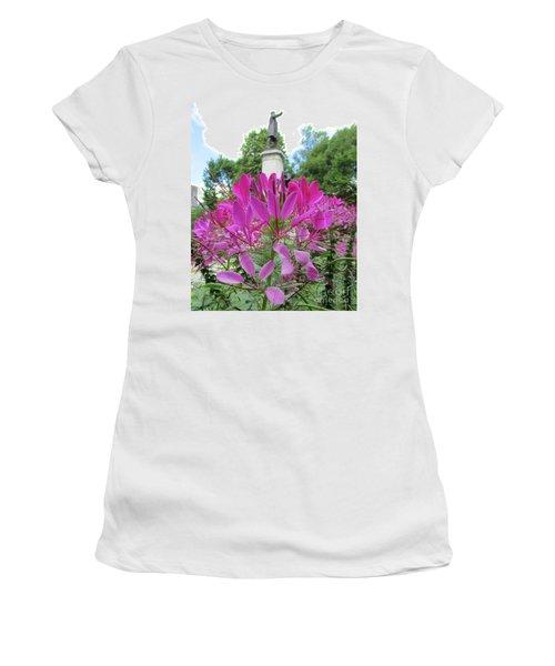 Purple Petals Women's T-Shirt (Athletic Fit)