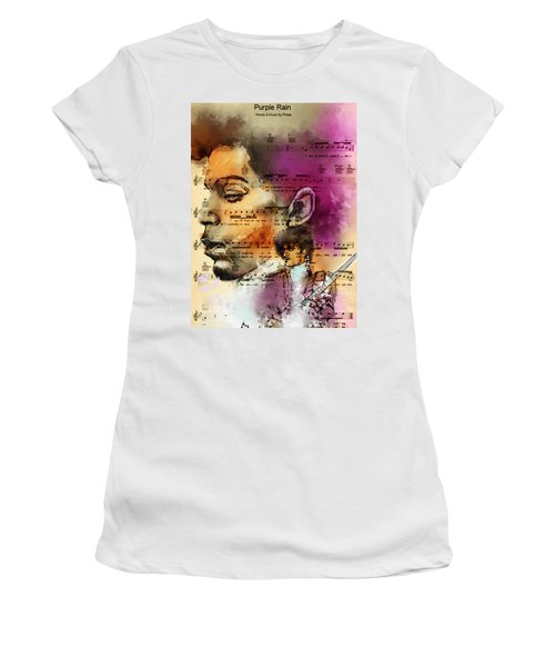 Purple Rain Forever Women's T-Shirt (Athletic Fit)