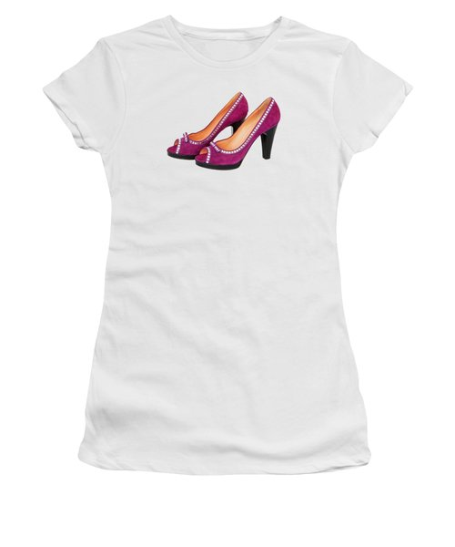 Purple Shoes Women's T-Shirt (Athletic Fit)