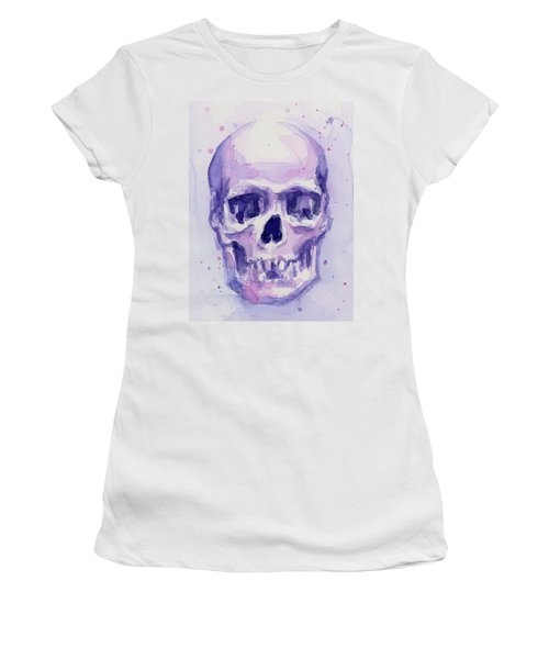 Purple Skull Women's T-Shirt (Athletic Fit)