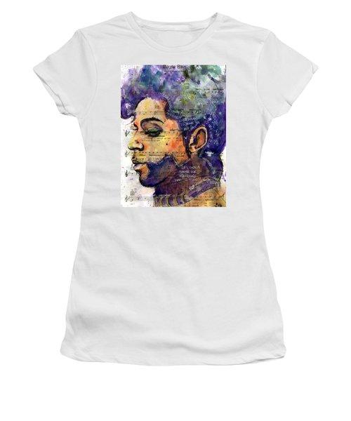 Purple Tears Women's T-Shirt (Junior Cut) by Howard Barry