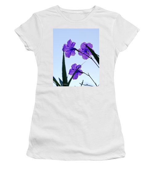 Women's T-Shirt featuring the photograph Purple Trio by Christopher Holmes