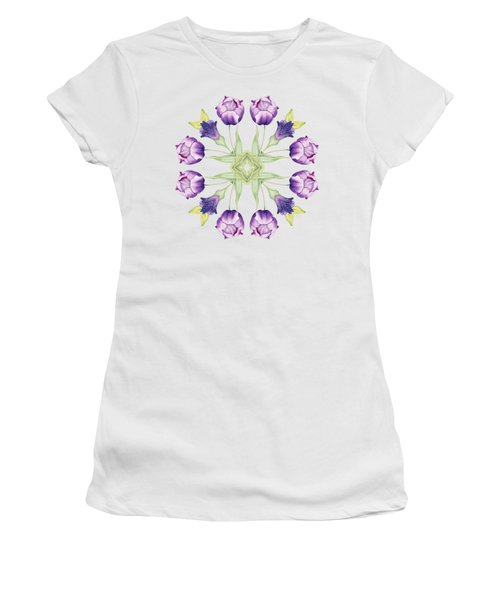 Purple Tulip Mandala Women's T-Shirt