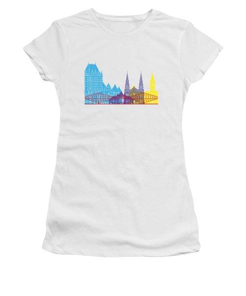 Quebec Skyline Pop Women's T-Shirt