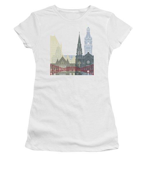 Quebec Skyline Poster Women's T-Shirt