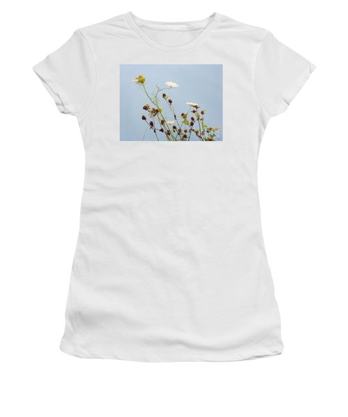 Queen Anne's Lace And Dried Clovers Women's T-Shirt (Junior Cut) by Lise Winne