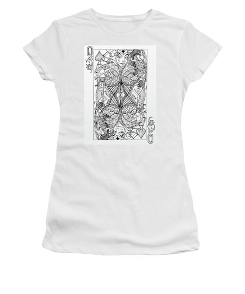 Queen Of Spades  Women's T-Shirt (Athletic Fit)