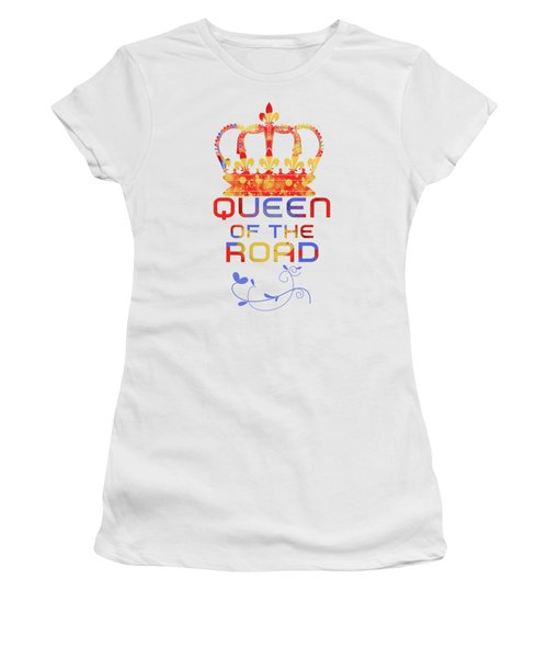 Queen Of The Road Women's T-Shirt (Athletic Fit)