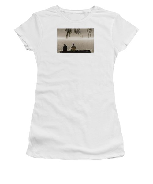 Women's T-Shirt (Junior Cut) featuring the photograph Quiet Time by Inge Riis McDonald
