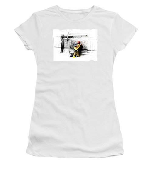 Quito Street Musician II Women's T-Shirt (Athletic Fit)