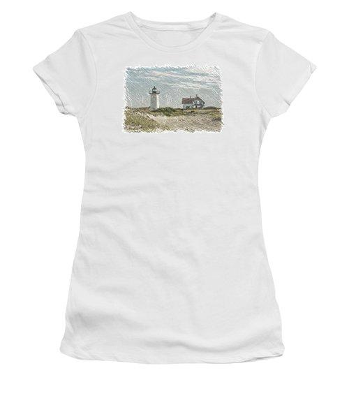 Race Point Lighthouse Women's T-Shirt (Junior Cut) by Paul Miller