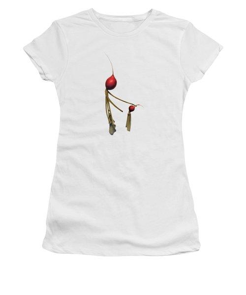 Radish Wisdom - On White Women's T-Shirt