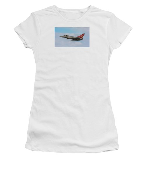 Raf Typhoon In Flight At Uk Airshow Women's T-Shirt (Athletic Fit)