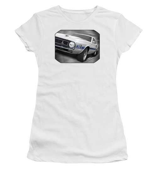 Rain Won't Spoil My Fun - 1969 Shelby Gt500 Mustang Women's T-Shirt (Junior Cut) by Gill Billington