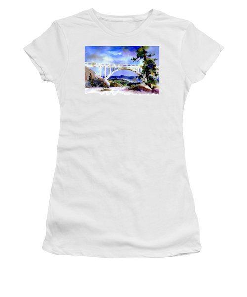 Rainbow Bridge Above Donnerlk#2 Women's T-Shirt
