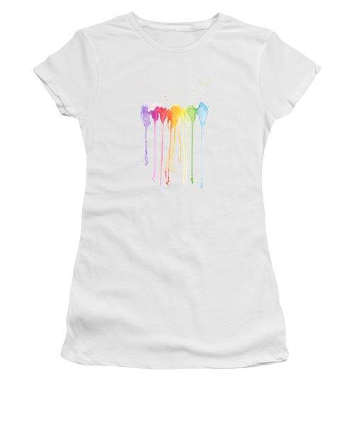 Rainbow Color Women's T-Shirt (Athletic Fit)