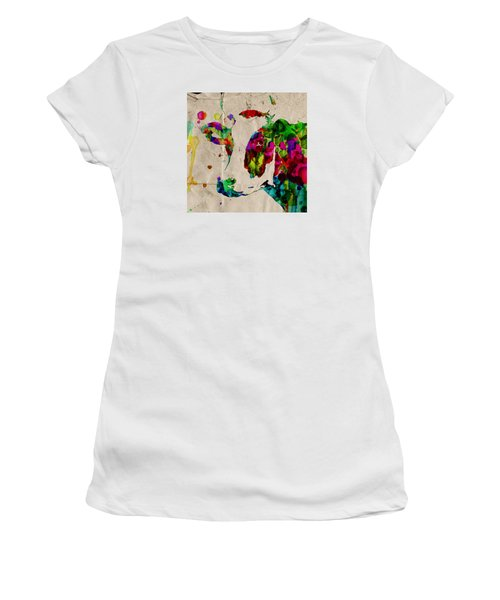 Rainbow Cow Print Poster Women's T-Shirt