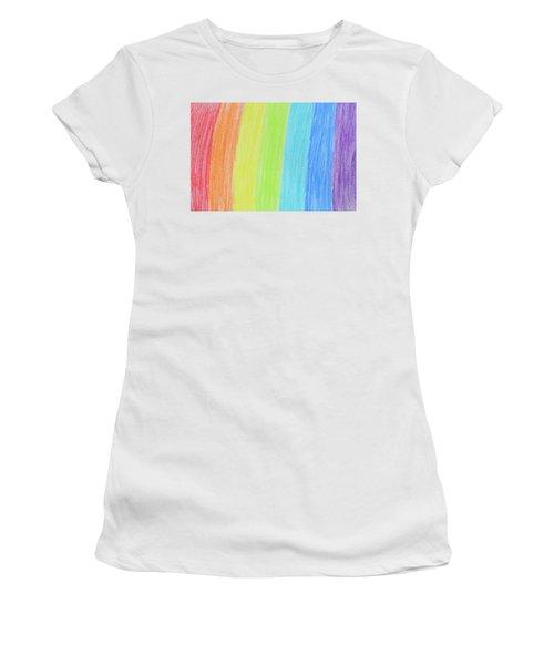 Rainbow Crayon Drawing Women's T-Shirt