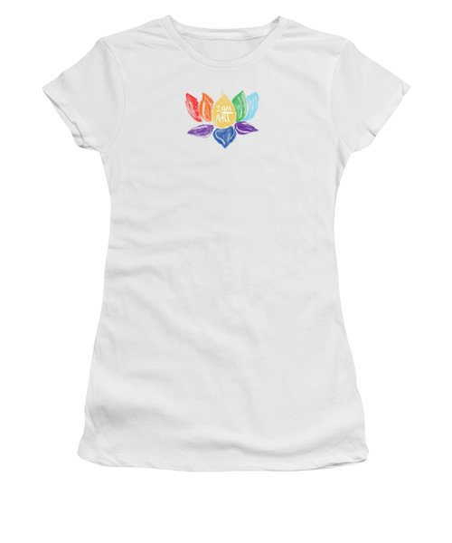 Rainbow Lotus I Am Art- Art By Linda Woods Women's T-Shirt (Athletic Fit)