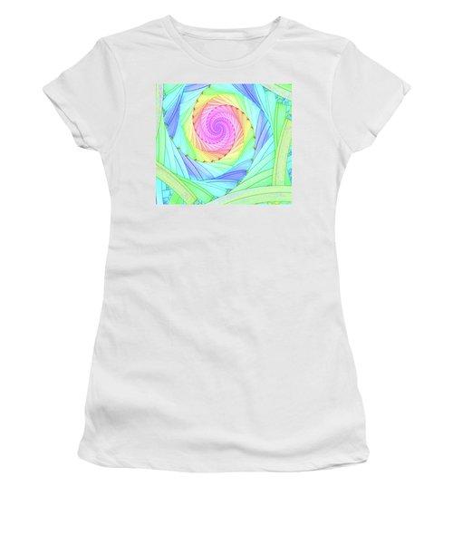 Rainbow Spiral Women's T-Shirt