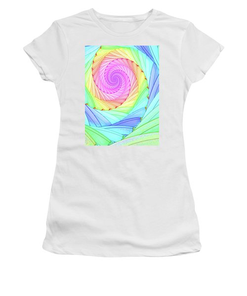 Rainbow Spiral Women's T-Shirt