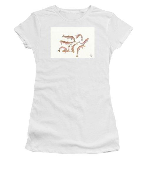 Rainbow Trout Women's T-Shirt (Junior Cut) by Gareth Coombs