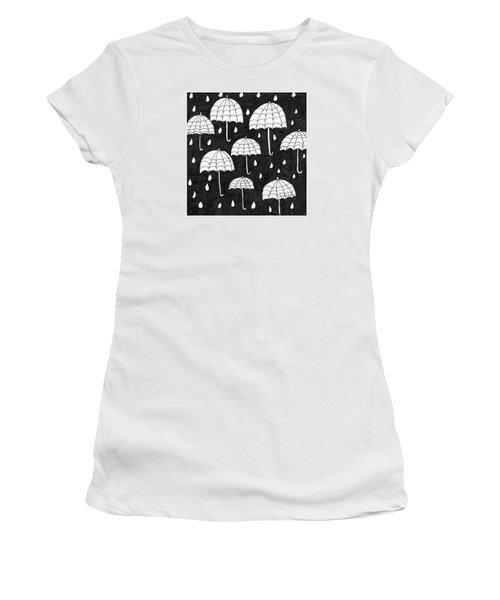 Raindrops Women's T-Shirt (Junior Cut) by Lou Belcher