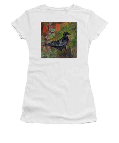 Raven In Columbine Women's T-Shirt