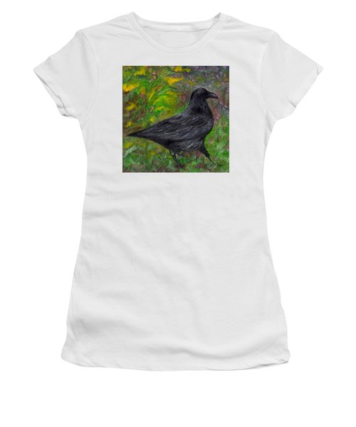 Raven In Goldenrod Women's T-Shirt