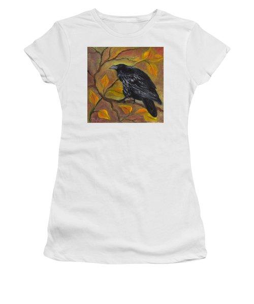 Raven On A Limb Women's T-Shirt