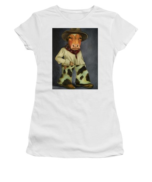 Real Cowboy 2 Women's T-Shirt (Junior Cut) by Leah Saulnier The Painting Maniac