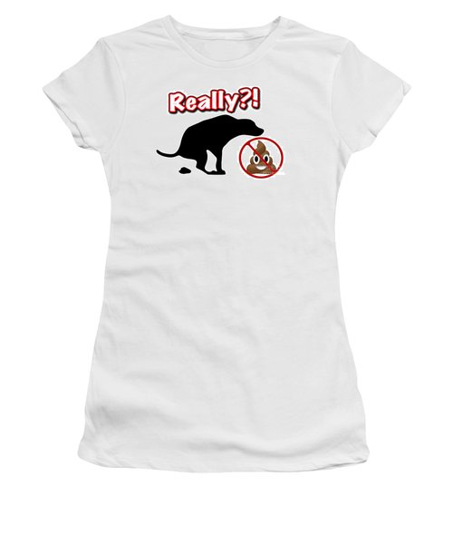 Really No Poop Women's T-Shirt (Athletic Fit)