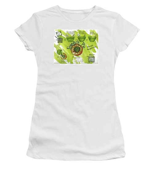 Recipe-spinach Pie Women's T-Shirt (Athletic Fit)