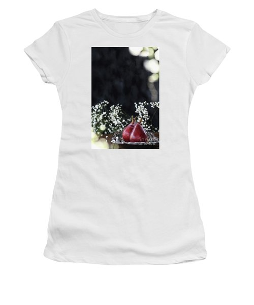 Women's T-Shirt (Junior Cut) featuring the photograph Red Anjou Pears by Stephanie Frey