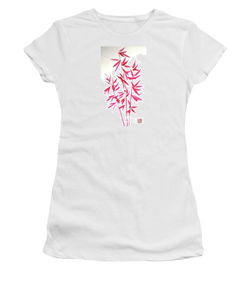 Red Bamboo Women's T-Shirt (Athletic Fit)