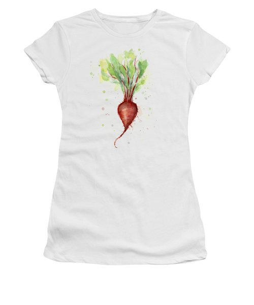 Red Beet Watercolor Women's T-Shirt